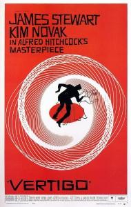 """כרזת הסרט """"ורטיגו"""" בבימוי אלפרד היצ'קוק (1958)"""
